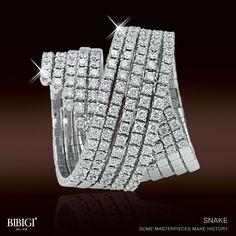 Scintillante, sinuoso, audace. L'anello #Snake #Bibigì in oro bianco e diamanti, osa l'impossibile. Scopri tutta la collezione Snake suhttp://bibigi.it/prodotto/snake-anelli-5-giri/  Shiny, sinuous, audacious. #Snake #Bibigì ring, white gold and diamonds, dares the impossible. Check out the whole Snake collection on http://bibigi.it/en/prodotto/snake-rings-5-turn/