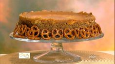 Clinton Kelly's Chocolate-Covered Caramel Pretzel Cheesecake Recipe | The Chew - ABC.com