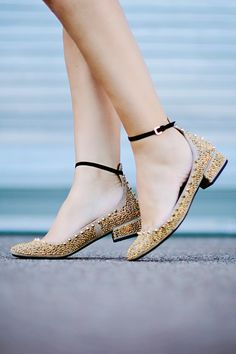 Comfortable with a small blocl heel☆