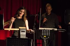 Duet with Carolina Eyck during the Theremin Spring Academy 2014 in Leipzig