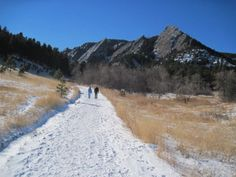 flatirons colorado in winter - Google Search