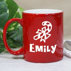 Personalized Candy Cane Mug - Gifts Happen Here