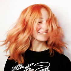 """Blorange"" Is The Latest Hair Color Trend To Sweep Instagram — & It's Even Better Than Rosé #refinery29  http://www.refinery29.com/2017/01/136926/blorange-hair-color-trend#slide-10  Hues veering more on the orange side scream summer — no matter what the weather is like outside. ..."
