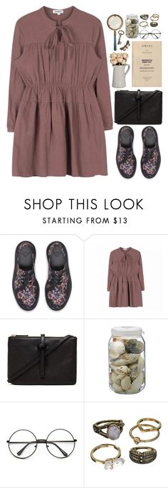 """""""Barbaric - Petite Meller"""" by annaclaraalvez ❤ liked on Polyvore featuring Dr. Martens, Annabel Ingall, La Ligne and Mudd"""