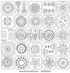 Juliia Snegireva - Most popular images - Page your stress away with Flowers and Squares I coloring canvas. Meridian loyalty club members get a set of premium coloring markers FREE with each purchase!Photo about Geometric pattern. Doodle Patterns, Zentangle Patterns, Heart Patterns, Embroidery Patterns, Doodle Borders, Embroidery Sampler, Flower Embroidery, Flower Patterns, Zentangle Drawings