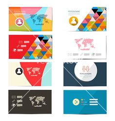Paper business card template - layout set vector - by mejn on VectorStock®