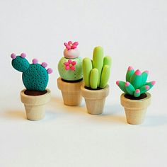 Cactus ♡ I'd like them to look more natural and have one with pink flowers. :)