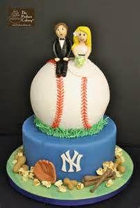 Wedding Cake For A Baseball Loving Bride And Groom Fondant