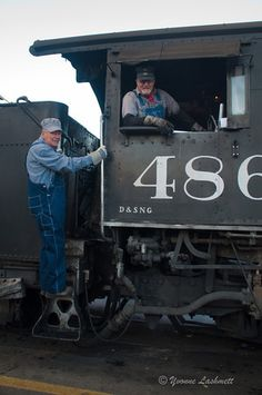 Norman S., 79, rides in the front cab on the Durango Silverton Narrow Gauge Railroad