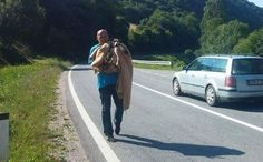 Drivers Stop Their Car to Rescue Dog Who Leads Them to a Surprise