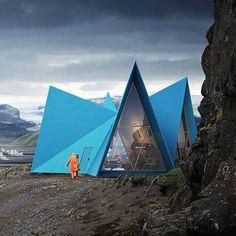 #trekking cabin designed by @utopiaarkitekter the Icelandic wilderness : @mir.no snapchat #nextarch #next_top_architects