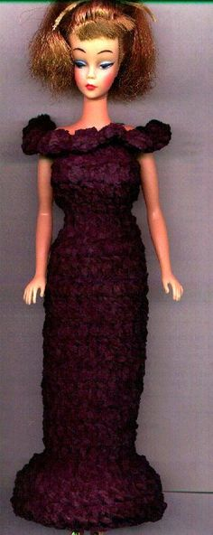 FREE crochet pattern for a Barbie doll gown    (not sure if I posted this yet...)