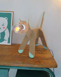 Lampe chat léonard et Cie - 75€