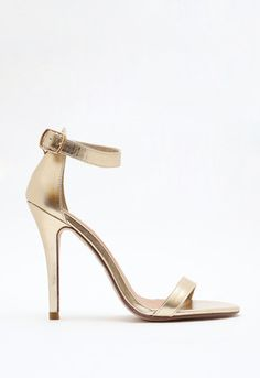 With such a gorgeous dress, you don't need CRAZY shoes. These golden sandal heels will do perfect, and keep you looking stunning #shoppricelesscontest