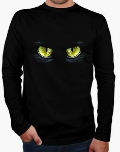 Camiseta Ojos de gato Camiseta hombre manga larga  19,90 € - ¡Envío gratis a partir de 3 artículos!