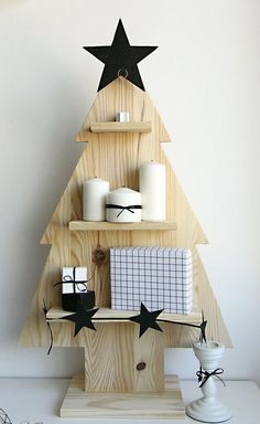 arvore de natal artesanal minimalista