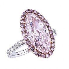 William Goldberg. One of a kind Pink Diamond and Diamond Ring.