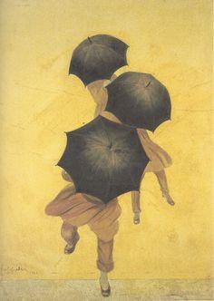 Leonetto Cappiello- Les Parapluies, gouache sur papier, 1922 How is it that umbrellas make paintings so much cuter...
