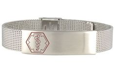 Stainless+Steel+Sleek+Mesh+Bracelet