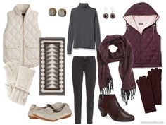 How to choose an accent color for a charcoal capsule wardrobe.