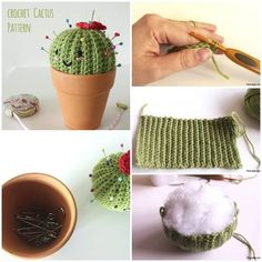 DIY Crochet Pincushion Cactus Pattern / UsefulDIY.com