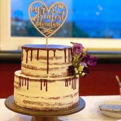 Nakes Cake mit Schokoladendrip Nakes Cake, Catering, Desserts, Pink, Cake Ideas, Dessert Ideas, Wedding Cakes, Pies, Tailgate Desserts
