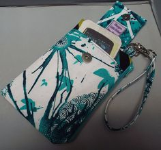 Small Wristlet Wallet or Bag with Smart by AlwaysALittleBehind, $16.00