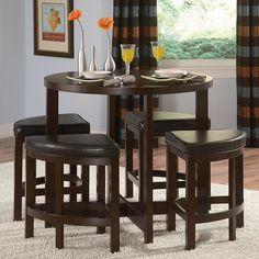 Brussel II 5 Piece Counter Height Dining Set