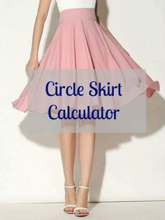 Circle Skirt Calculator - My Handmade SpaceV Neck Dress Pattern Free - My Handmade SpaceHow to calculate the waist measurement for a circle skirtWhat About Amazing Easy Sewing Projects ? The circle flare skirt is a full skirt and the pattern pieces a Sewing Hacks, Sewing Tutorials, Sewing Crafts, Sewing Tips, Dress Tutorials, Sewing Ideas, Sewing Patterns Free, Free Sewing, Skirt Patterns Sewing