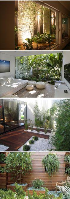 Surgiram como uma solução para trazer luz natural em ambientes enclausurados e hoje são uma opção para quem mora em apartamentos ou residências com pouco espaço externo. Eles podem ser pequenos, estar em áreas de passagem ou servir como um disfarce…