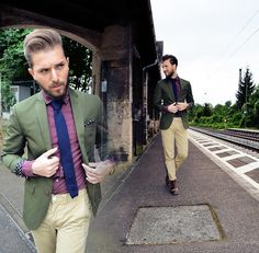 H&M Blazer, Topman Shirt, Zara Tie, Topman Chino, Asos Shoes, Falke Socks