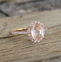 ON HOLD - 1.90 Cts. Champagne Peach Sapphire in 14K Rose Gold