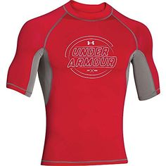 Under Armour Ames SS Rashguard - Men's Red / White XL Short Sleeve Muscle Shirt. Available while supplies last! http://www.amazon.com/dp/B00L30D4P4/ref=cm_sw_r_pi_dp_qNa.wb0SC18RX