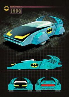 batmobile batman car history 1990