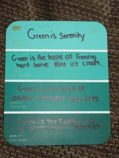 Kelly Hall who writes the Fabulous in Fourth blog shares her students' paint chip poetry