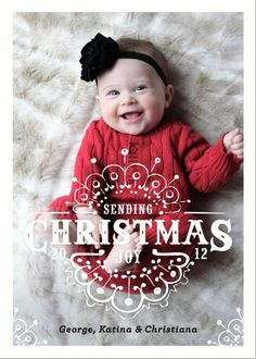 Baby's first Christmas, Card minted.com