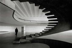 Iconic staircase inside the Itamaraty Palace in Brazil by Oscar Niemeyer.