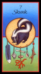 Skunk Animal medicine cards