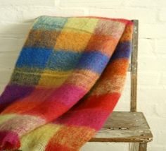 Mohair Travel Blanket range. Contemporary yet classic. Subtle yet expressive. It's about natural fibers. Mohair and wool. Naturally lightweight, insulating and breathable, keeping you warm in winter and cool in summer. Simple. Made for life.  Size: 130cmx180cm Color: Brights http://www.buykoop.com/Mohair-Blanket-Brights.html