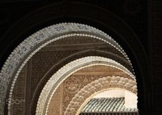 "Arcos de luz - Taken in the Alhambra of Granada. Spain.   <a href=""https://www.facebook.com/media/set/?set=a.775704642452300.1073741850.670823636273735&type=3""> Part of my collection of Granada Spells... </a> To see more of this beautiful city and its charm, please visit or like my facebook page so you'll get updated whenever a new picture is posted"