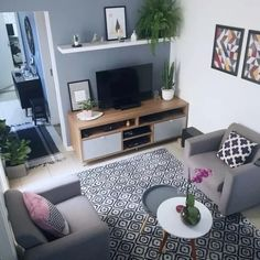 Home Decorating Stores Dallas Small Living Rooms, Home Living Room, Apartment Living, Living Room Decor, Home Room Design, Living Room Designs, Home And Deco, Minimalist Home, House Rooms