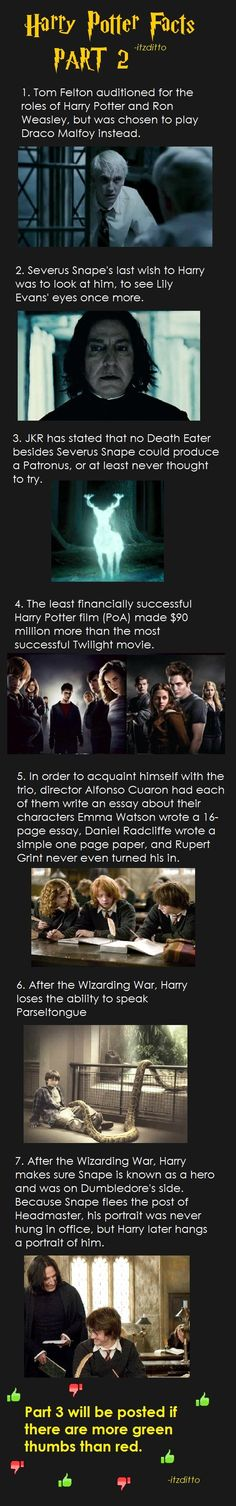 Harry Potter Facts Part 2