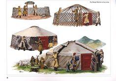 Mongol Warrior set up camp.