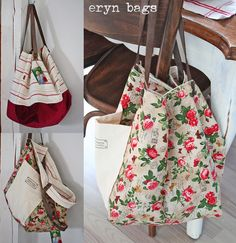 eryn bags lots of options on this site but good square shape I need. Tote Pattern, Purse Patterns, Craft Bags, Quilted Bag, Cute Bags, My Bags, Handmade Bags, Drawstring Backpack, Pouch