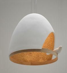 Lamp with bird