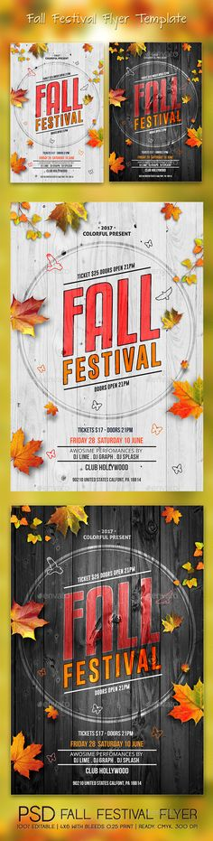 Fall Festival Flyer  Fall Festivals And Flyer Template
