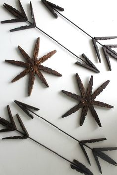 The Wicker House: Clothespin Arrow Christmas tree Ornaments