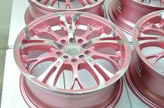 Cool Cars girly used pink rims for sale. Cool Cars girly used pink rims for sale. Jdm, Pink Car Accessories, Honda Civic Accessories, Vw Cabrio, Pink Wheels, Rims For Sale, Pink Rims, Tout Rose, Pink Jeep