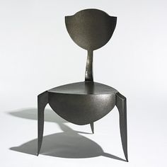 ANDRE DUBREUIL    Paris chair    France, 1988  enameled steel  22.5 w x 25 d x 37.75 h inches