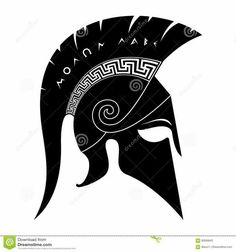 Illustration about Ancient spartan helmet vector illustration. Illustration of black, face, helmet - 92610199 Bild Tattoos, Body Art Tattoos, Sparta Tattoo, Spartan Helmet Tattoo, Molon Labe Tattoo, Spartan Logo, Gladiator Helmet, Spartan Warrior, Warrior Tattoos